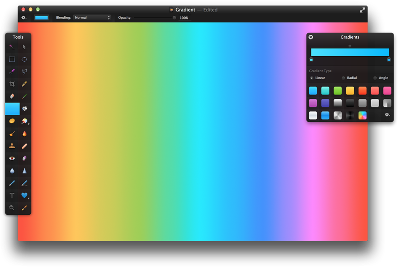 how to find the gradient using midpoint