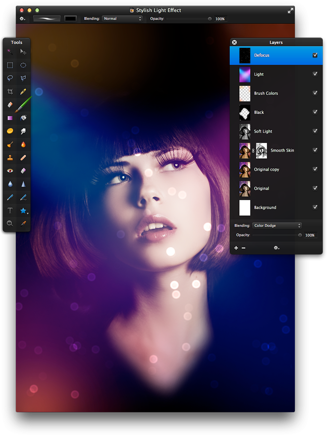 Stylish Light Effect - Pixelmator Tutorials